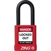 "ZING RecycLock Safety Padlock, Keyed Alike, 1-1/2"" Shackle, 1-3/4"" Body, Red"
