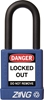 "ZING RecycLock Safety Padlock, Keyed Alike, 1-1/2"" Shackle, 1-3/4"" Body, Blue"