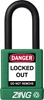 "ZING RecycLock Safety Padlock, Keyed Alike, 1-1/2"" Shackle, 1-3/4"" Body, Green"