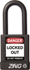 "ZING RecycLock Safety Padlock, Keyed Alike, 1-1/2"" Shackle, 1-3/4"" Body, Black"