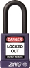 "ZING RecycLock Safety Padlock, Keyed Alike, 1-1/2"" Shackle, 1-3/4"" Body, Purple"