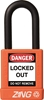 "ZING RecycLock Safety Padlock, Keyed Alike, 1-1/2"" Shackle, 1-3/4"" Body, Orange"