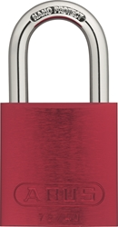 "ZING Aluminum Safety Padlock, Keyed Different, 1.5"" Shackle, 1-9/16"" Body, Red"
