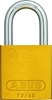 "ZING Aluminum Safety Padlock, Keyed Different, 1.5"" Shackle, 1-9/16"" Body, Yellow"