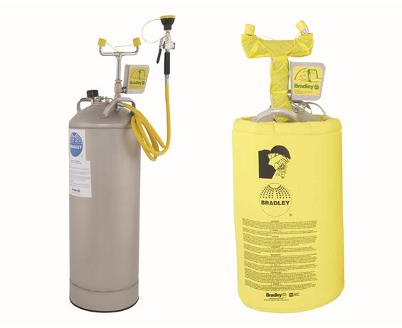 PORTABLE / PRESSURIZED EYEWASH- 10-Gallon with Heater Jacket (does not include drench hose)