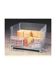 "WIRE MESH CONTAINERS- XL Wire Basket with Casters, 40x 48 x 42"", 4000 Cap. (lbs.)"