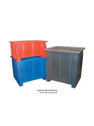 "STACKING PALLET CONTAINERS- 47 x 42 x 24"", 800 Cap. (lbs), Gray"
