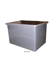 HEAVY-DUTY MOLDED PLASTIC CONTAINERS- Straight-walled, includes lid for stacking, 28 x 22 x 16""