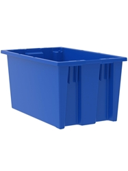 "NEST AND STACK TOTES-Blue, 18 x 11 x 9"", Cap. Cu. Ft. 0.8"