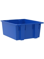 "NEST AND STACK TOTES-Blue, 23-1/2 x 19-1/2 x 10"", Cap. Cu. Ft. 2"