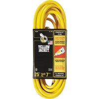 2886AC Yellow Jacket 14/3 Extension Cord With PowerLite Plug