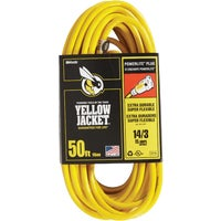 2887AC Yellow Jacket 14/3 Extension Cord With PowerLite Plug