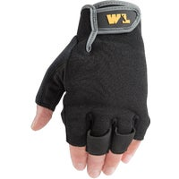 847L Wells Lamont Synthetic Leather Fingerless Glove gloves work
