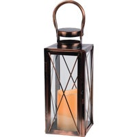 42024 Gerson Metal Flameless LED Lantern 42024, Gerson 12 In. Metal Flameless LED Lantern