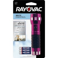 BEUV3AAA-BA Rayovac Brite Essentials Pet Stain Detector LED Flashlight flashlight led