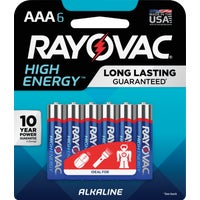 824-6K Rayovac High Energy AAA Alkaline Battery alkaline battery
