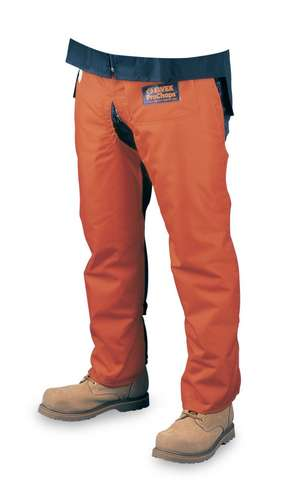 "Chain Saw Leg Protection - ProChaps Apron Style, 1000 Denier, Water Resistant, Orange, Length 39"" from Waist 0, Chain Saw Leg Protection - ProChaps Apron Style, 1000 Denier, Water Resistant, Orange, Length 39"" from Waist"