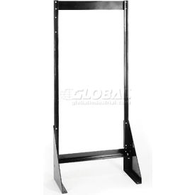 "Quantum Single Sided Floor Stand QFS148 for Tip Out Bins - 48""H"