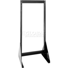 "Quantum Doubled Sided Floor Stand QFS248 for Tip Out Bins - 48""H"
