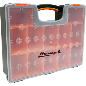 "Homak HA01112425 Plastic Organizer With 12 Removable Bins 16-1/2""L x 13""W x 4-1/4""H"