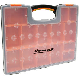 "Homak HA01122238 Plastic Organizer With 22 Removable Bins, 16-1/2""L x 13""W x 2-3/8""H"