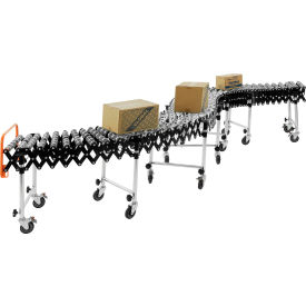 "168112 Portable Flexible & Expandable 62"" to 248"" Conveyor - Steel Skate Wheels - 18""W"