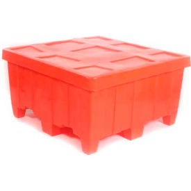 "myton forkliftable bulk shipping container mtg-2 with lid - 44""l x 44""w x 23""h, red Myton Forkliftable Bulk Shipping Container MTG-2 with Lid - 44""L x 44""W x 23""H, Red"