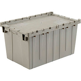 DC-2515-14 Plastic Storage Container - Attached Lid DC2515-14 25-1/4 x 16-1/4 x 13-3/4 Gray