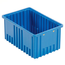 "DG92080BL Plastic Dividable Grid Container - DG92080,16-1/2""L x 10-7/8""W x 8""H, Blue"