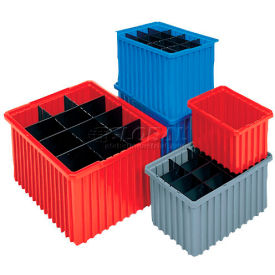 33164BLUE Akro-Mils Akro-Grid Dividable Container 33164 16-1/2 x 10-7/8 x 4 Blue