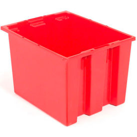 "35190RED Akro-Mils Nest & Stack Tote 35190 - 19-1/2""L x 15-1/2""W x 10""H, Red"