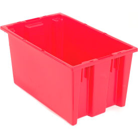 "35200RED Akro-Mils Nest & Stack Tote 35200 - 19-1/2""L x 13-1/2""W x 8H, Red"
