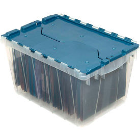 "66486FILEB Akro-Mils Clear KeepBox Attached Lid Container 66486FILEB w/File Rails - 21-1/2""L x 15""W x 12-1/2""H"