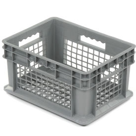 "37208GREY Akro-Mils Straight Wall Container 37208 Mesh Sides & Base 15-3/4""L x 11-3/4""W x 8-1/4""H, Gray"