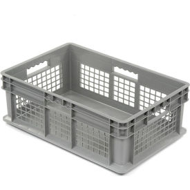 "37678GREY Akro-Mils Straight Wall Container 37678 Mesh Sides Solid Base 23-3/4""L x 15-3/4""W x 8-1/4""H, Gray"