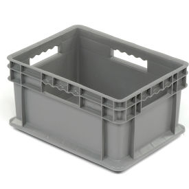 "37288GREY Akro-Mils Straight Wall Container 37288 Solid Sides & Base 15-3/4""L x 11-3/4""W x 8-1/4""H, Gray"