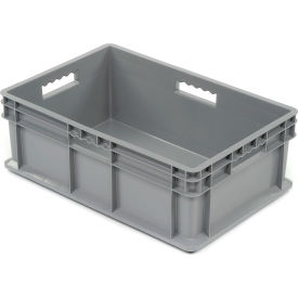 "37688GREY Akro-Mils Straight Wall Container 37688 Solid Sides & Base 23-3/4""L x 15-3/4""W x 8-1/4""H, Gray"