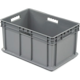 "37682GREY Akro-Mils Straight Wall Container 37682 Solid Sides & Base 23-3/4""L x 15-3/4""W x 12-1/4""H, Gray"