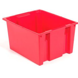 "35225RED Akro-Mils Nest & Stack Tote 35225 - 23-1/2""L x 19-1/2""W x 10""H, Red"