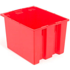 "35195RED Akro-Mils Nest & Stack Tote 35195 - 19-1/2""L x 15-1/2""W x 13""H, Red"