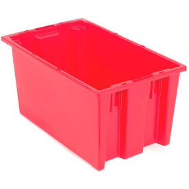 "35185RED Akro-Mils Nest & Stack Tote 35185 - 18""L x 11""W x 9""H, Red"