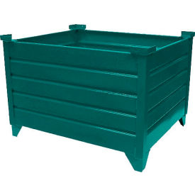 "topper stackable steel container 51018g solid, 42""l x 30""w x 24""h, green Global Industrial™ Stackable Steel Container 51018G Solid, 42""L x 30""W x 24""H, Green"