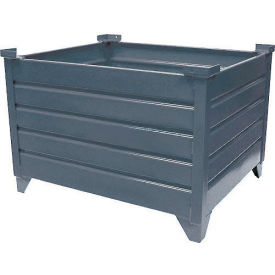 "51007 Topper Stackable Steel Container 51007 Solid, 42""L x 35""W x 24""H, Unpainted"