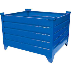 "topper stackable steel container 51009b solid, 42""l x 42""w x 24""h, blue Global Industrial™ Stackable Steel Container 51009B Solid, 42""L x 42""W x 24""H, Blue"