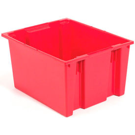 "35230RED Akro-Mils Nest & Stack Tote 35230 - 23-1/2""L x 19-1/2""W x 13""H, Red"
