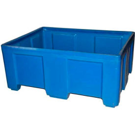 "Myton Forkliftable Bulk Shipping Container SO-5038-2 No Lid - 49-1/2""L x 37-1/2""W x 21-1/2""H, Orange"