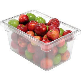 FG330400CLR Rubbermaid 3304-00 Clear Plastic Box 5 Gallon 18 x12 x 9