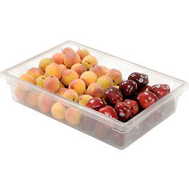 FG330800CLR Rubbermaid 3308-00 Clear Plastic Box 8 1/2 Gallon 18 x 26 x 6