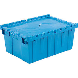 DC2115-09BLUE Plastic Shipping Container - Hinged Lid Storage DC2115-09 21-7/8 x 15-1/4 x 9-11/16 Blue