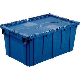 DC-2115-12BLUE Plastic Shipping Container - Hinged Lid Storage DC2115-12 21-7/8 x 15-1/4 x 12-7/8 Blue